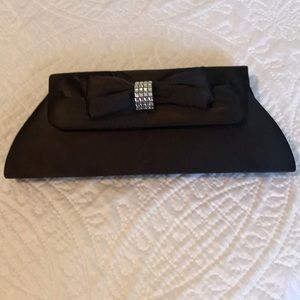 Handbags - Classic Satin Black Clutch